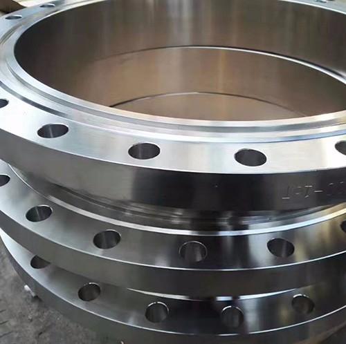 CNC machined steel flange
