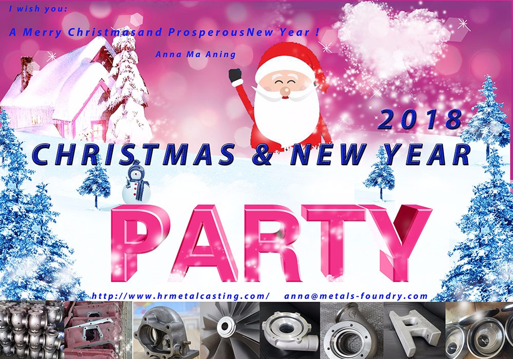 Christmas greetings from Hengrui casting foundry