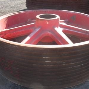 Mining jaw crusher ductile iron casting flywheel
