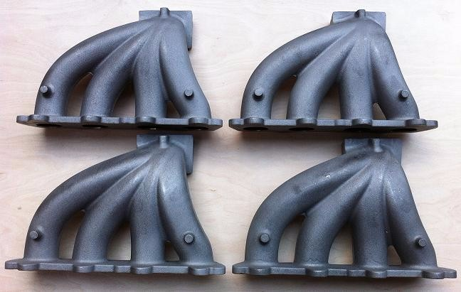 Ductile iron and gray iron casting manifold