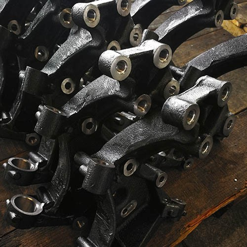 Cast iron automotive parts, steering knuckles