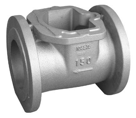 Cast iron GG20 gate valve body
