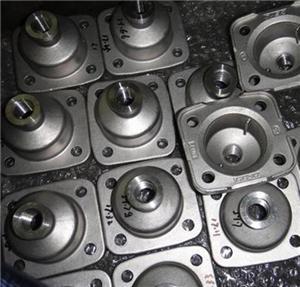 Cast aluminium parts from different processing ways
