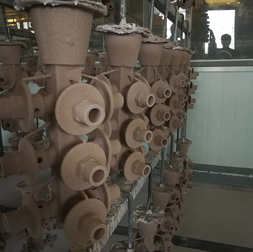 The shell making process of the second batch of 304 part for USA