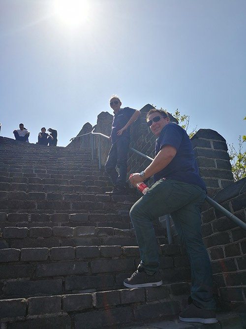 Visiting Hushan Great Wall with clients