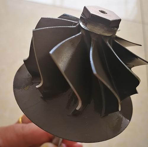 CNC machined turbine wheel and shaft
