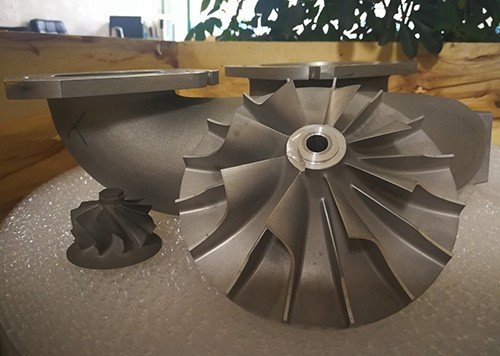 CNC machined turbocharger compressor wheel, turbine housing, compressor housing