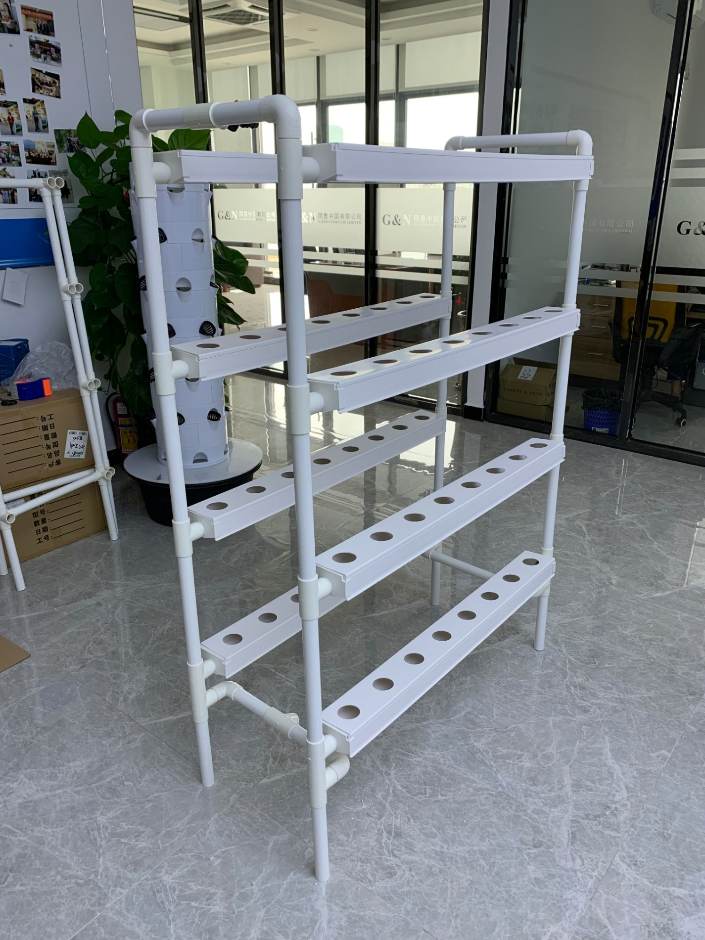 hydroponic growing pipe channel tube system used for family
