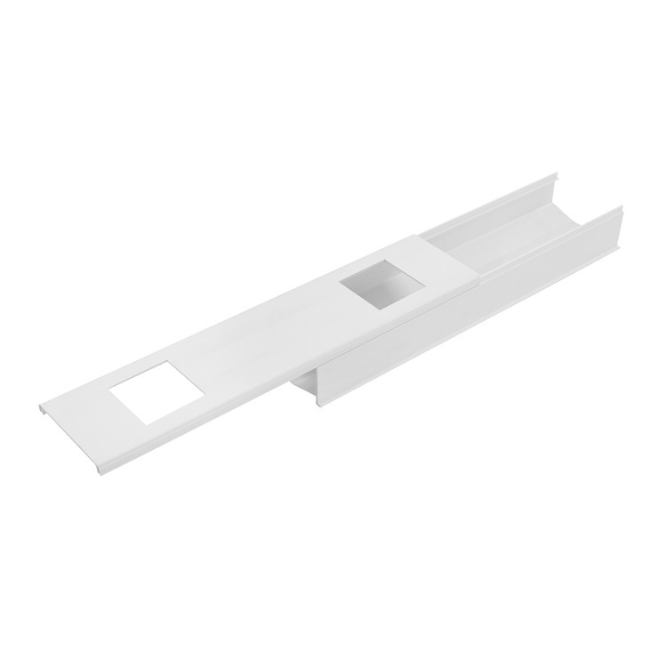 PVC Hydroponic NFT Gutter Channel System For Greenhouse Farming