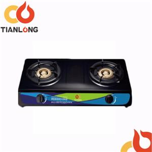 Double Size Iron Gas Stove For Kitchen Cooking