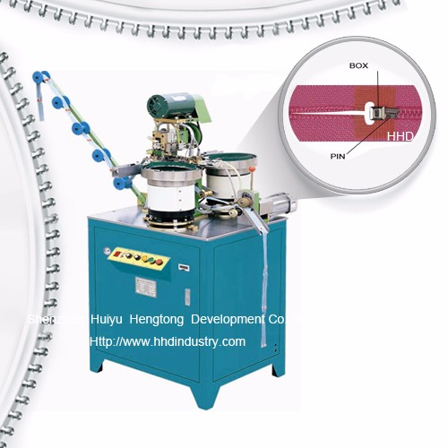 Auto Nylon Zipper Pin And Box Fixing Machine