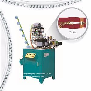 Auto Metal Zipper U Type Top Stop Machine