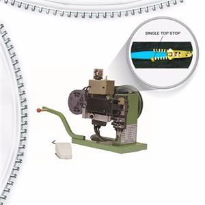 Semi Atuo Metal Zipper Single Top Stop Machine