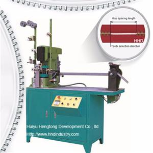 Auto Metal Zipper Gapping And Striping Machine