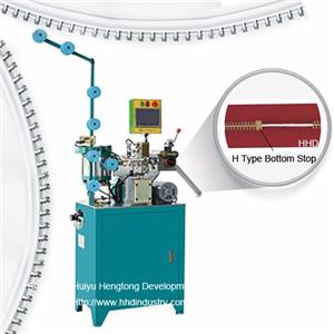 Auto Metal Zipper H Type Bottom Stop Machine