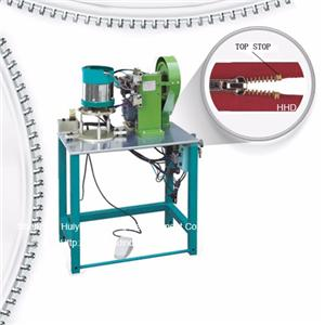 Semi Auto Metal Zipper U Type Particle Single Stop Stop Machine