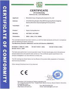 Nylon Zipper Coiling Machine CE Certificate