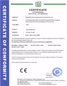 Nylon Zipper Sewing Machine CE Certificate