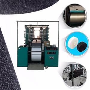 Warping machine for hook and loop yarn