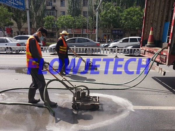 Road Marking Line and Signboard remove