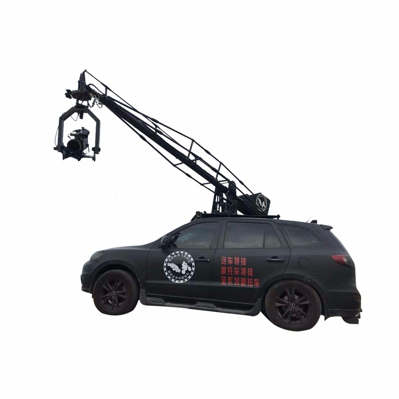 Car shooting behind the scenes production, to understand the vehicle camera crane shooting system.