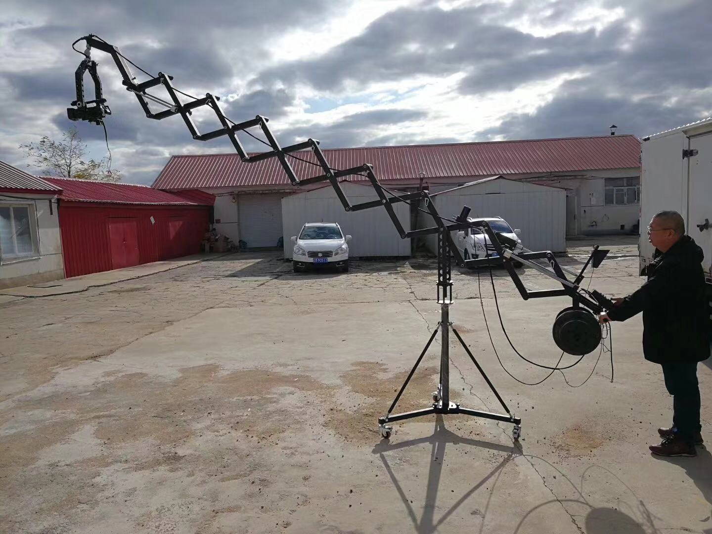 5.5m Telescopic Jib Crane for Video Camera