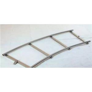 Curved stainless steel film dolly track rail