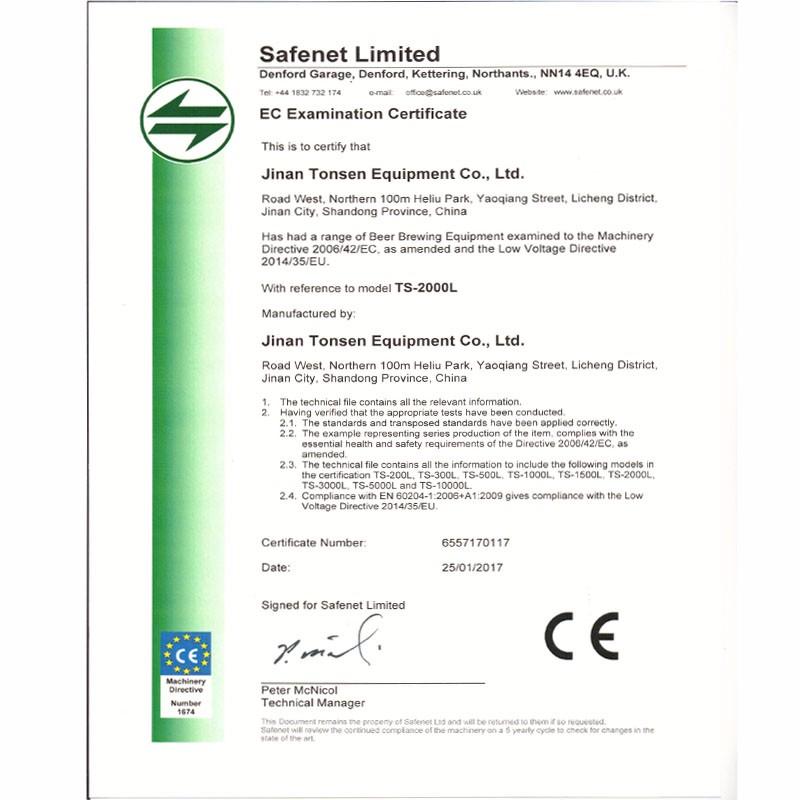 EC Examination Certificate