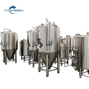 1000L Beer Equipment 2 Vessels of Brewhouse, 1000L Fermenters, Single Tank Single