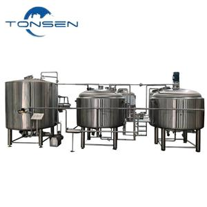 Diesel Fuel Heating Beer Brewing Equipment with Conical Fermenter, Beer Distillation