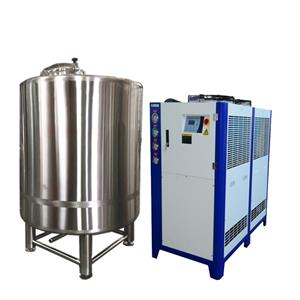 Refrigerator and ice water tank