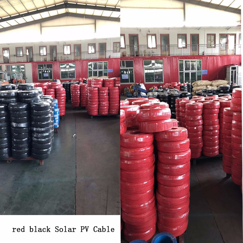 1.5mm2 2.5mm2 4mm2 6mm2 10mm2 red black Solar PV Cable