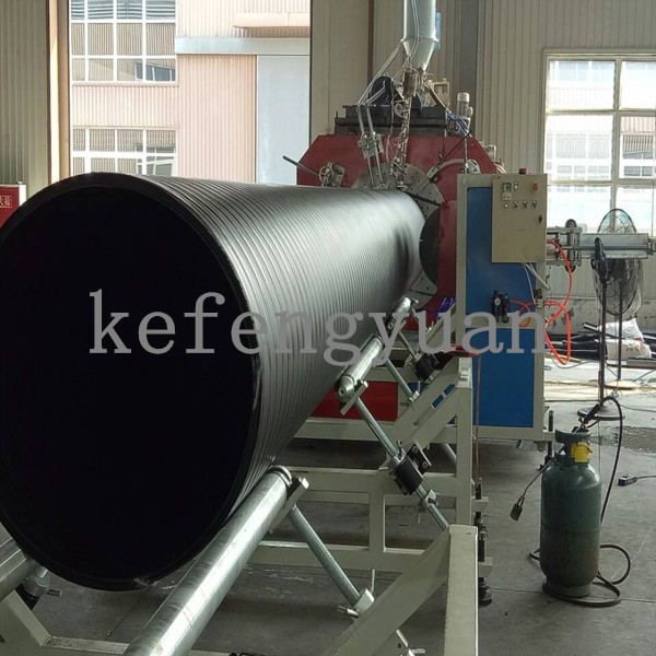 HDPE Steel Reinforced Hollow Wall Winding Pipe Machine