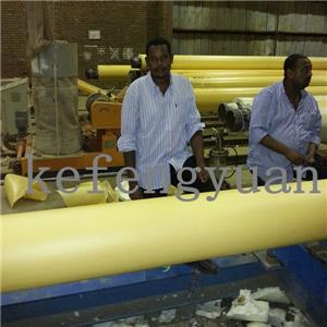 Pre insulation pipe production line in Sudan