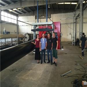HDPE Insulation Foam Pipe Casing Production Line in Turkey