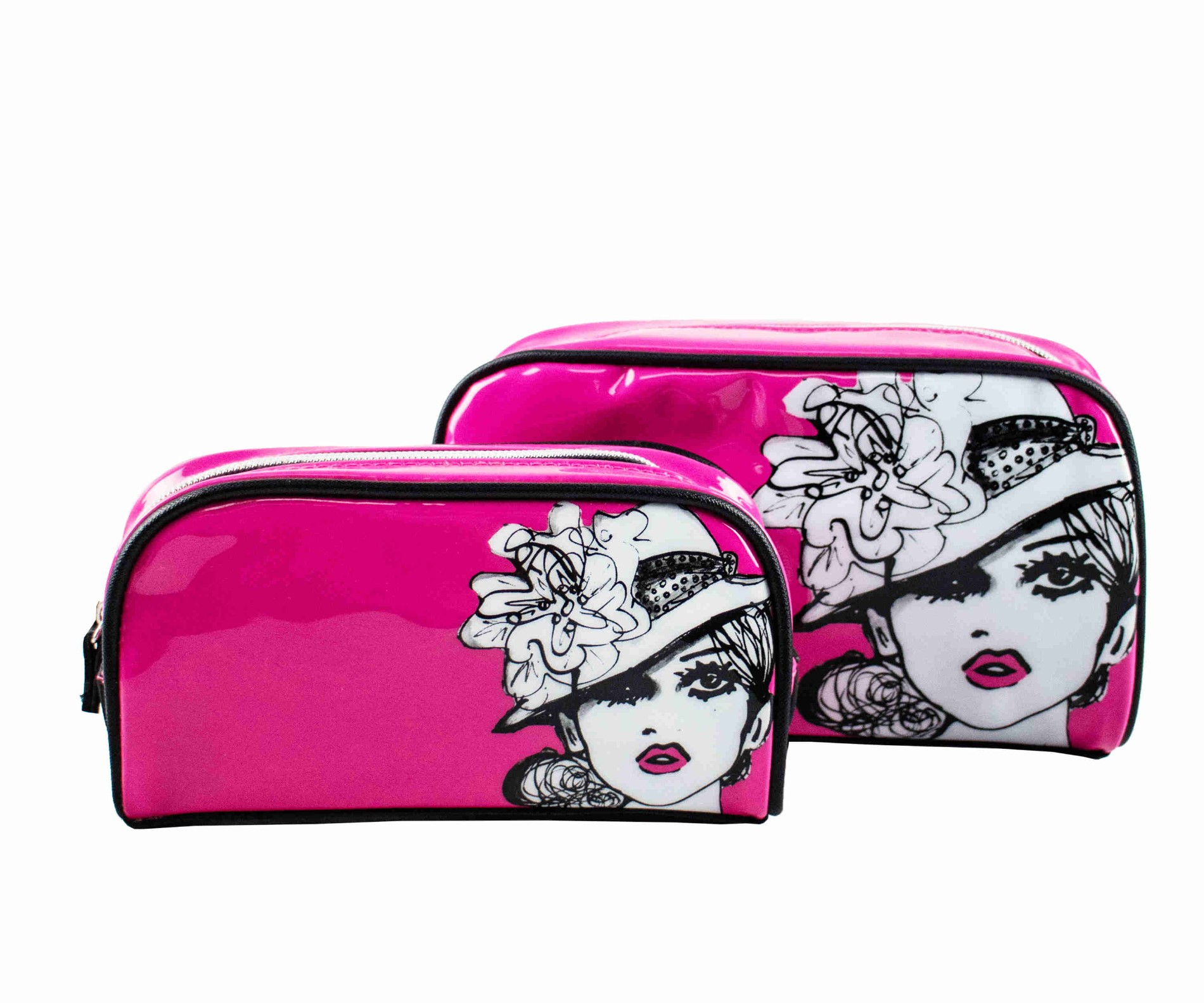 Fashion leather cosmetic bag