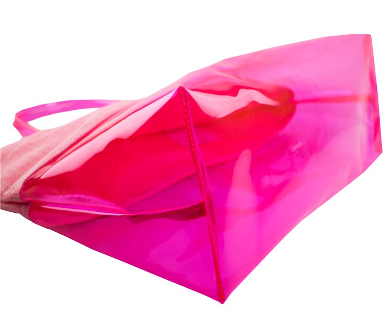 Pink translucent shopping bag