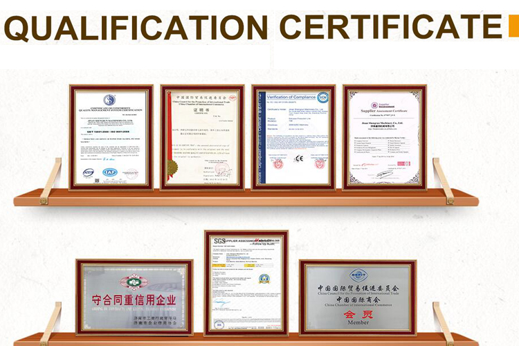 certificates of shengrun machinery company.jpg