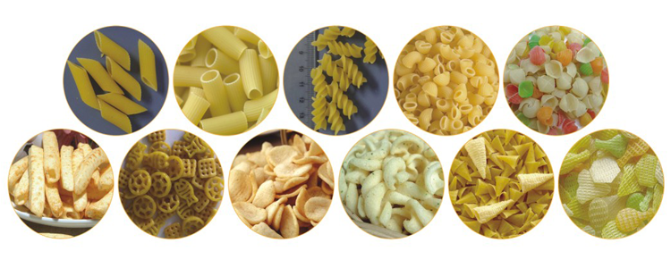 Single screw extruded pellet chips snack.png