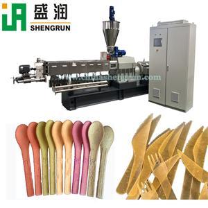 Edible tableware dinnerware knife scoop forkmaking machine production line