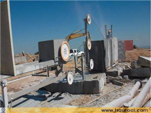 Diamond Wire Saw Machine For Squaring Blocks