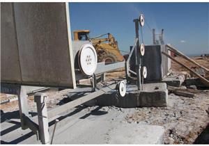 Diamond Wire Saw Machine For Squaring Blocks
