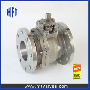 2PC Cast Steel Flange Floating Ball Valve