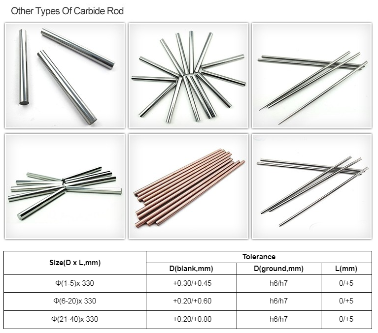 tungsten carbide rods with double spiral hole