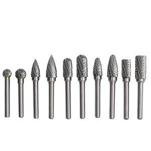 Tungsten carbide burr bits