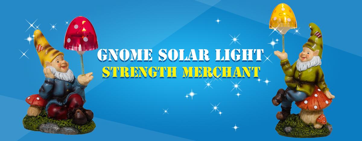 gnome solar light