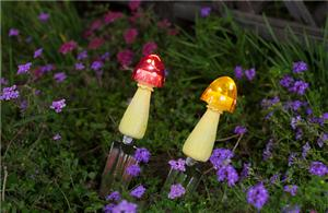 outdoor solar mushroom lights