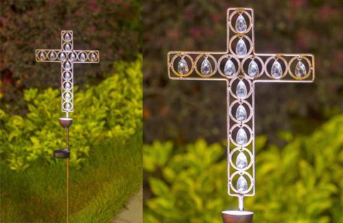 Solar metal stake light