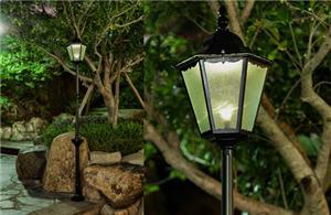 Free standing solar garden lights