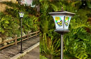 Butterfly Pattern Solar Yard Light